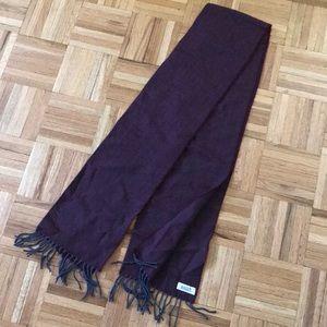 BALLY Maroon Unisex Wool Scarf